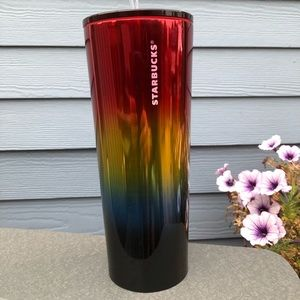 NEW STARBUCKS Stainless Steel Rainbow Cold Cup
